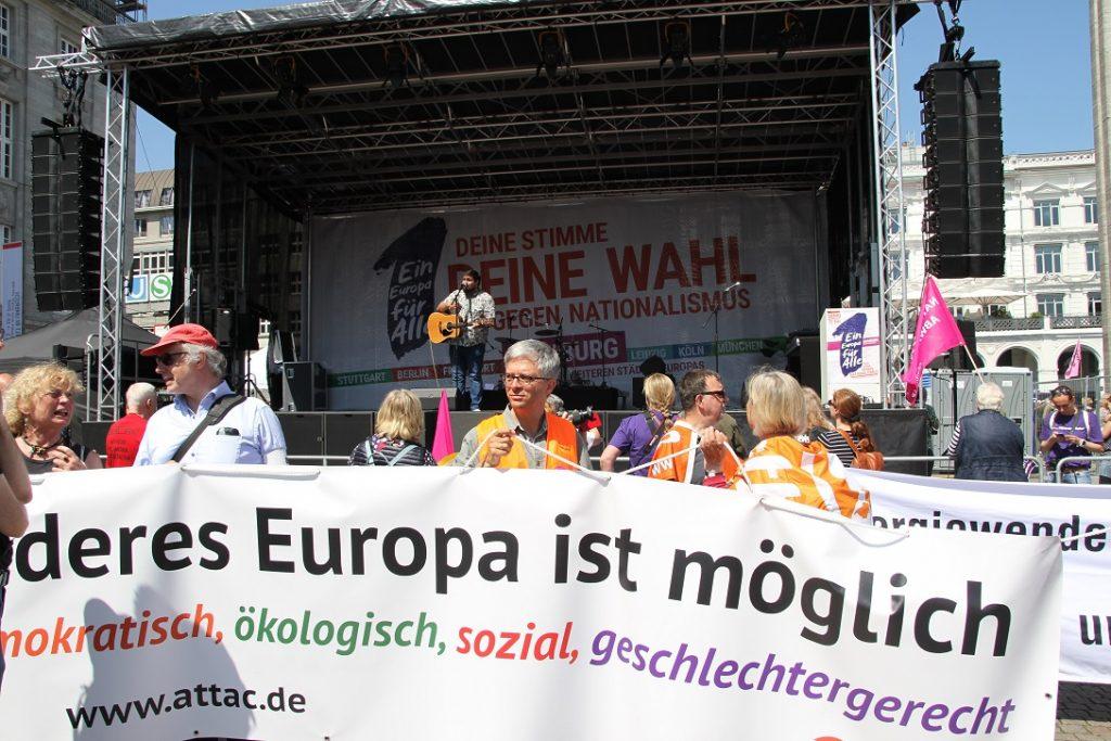 19. Mai: 150.000 gegen Rassismus und Nationalismus –    keine EU-Jubelveranstaltung