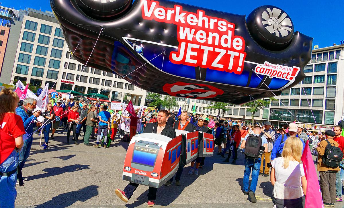 Proteste gegen die IAA in Frankfurt ein großer Erfolg