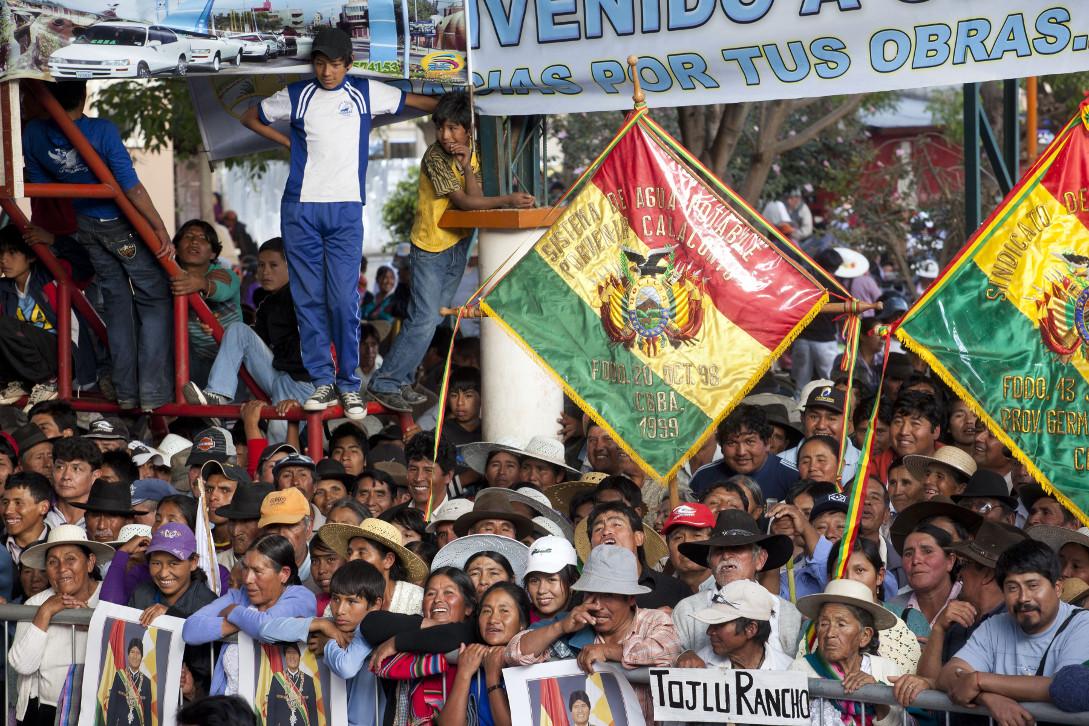 Gegen den Putsch in Bolivien