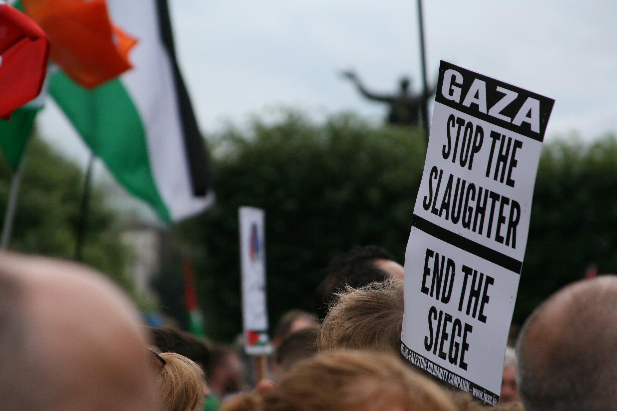 Proteste gegen ethnische Säuberung in Palästina