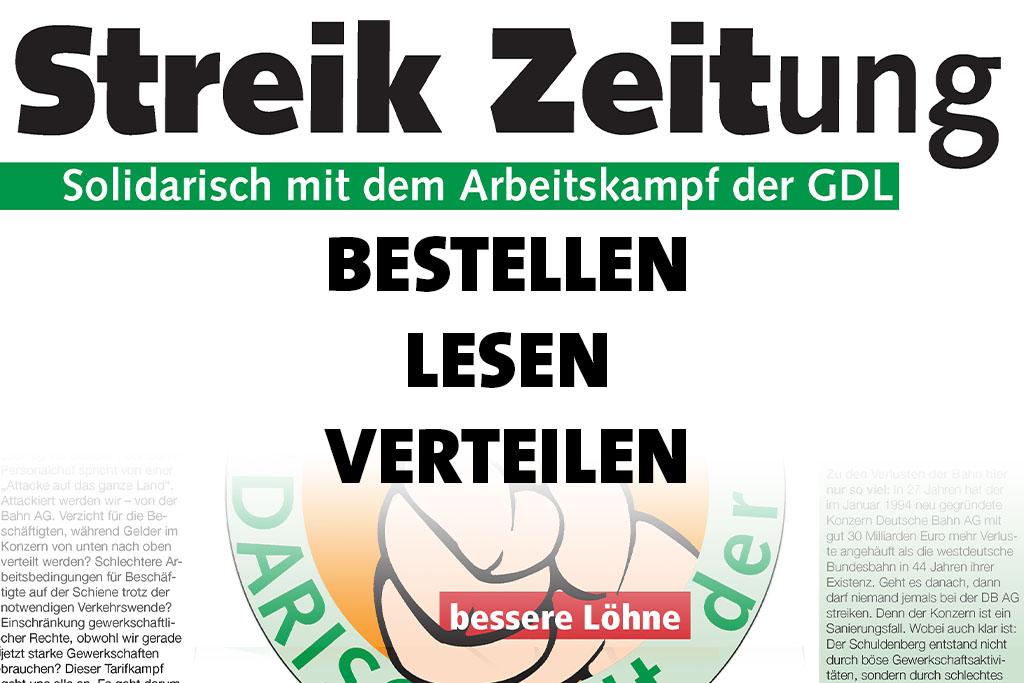 """""""Streik Zeitung"""" erschienen"""